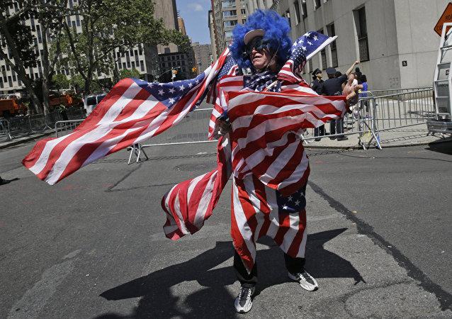 Un hincha norteamericano