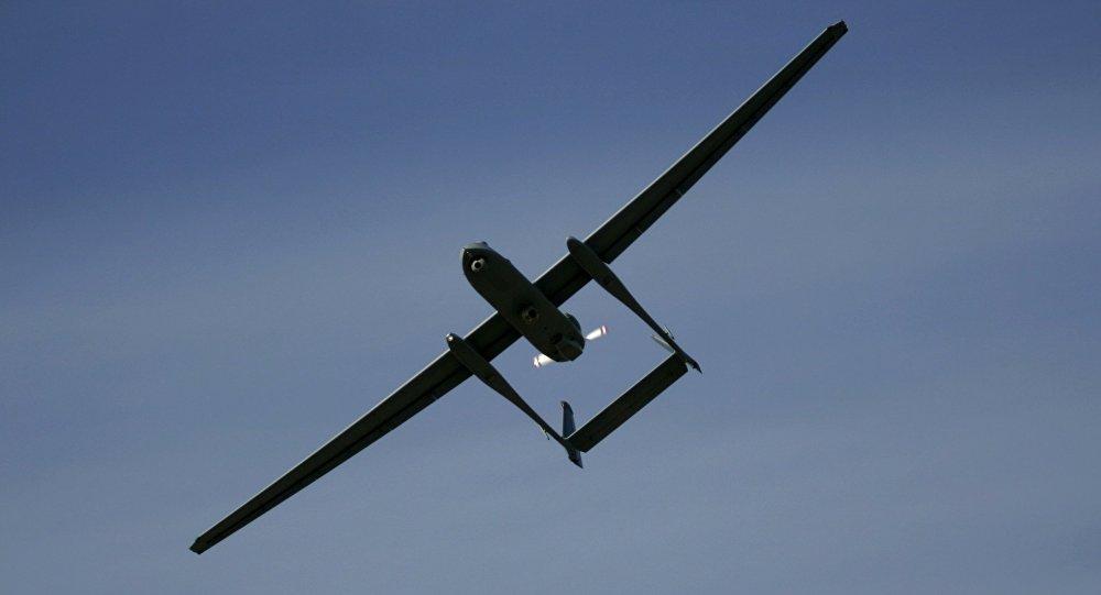 Un dron israelí Heron TP