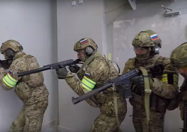 El Servicio de Seguridad de Rusia realizó un entrenamiento antiterrorista de unidades especiales en Kaliningrado