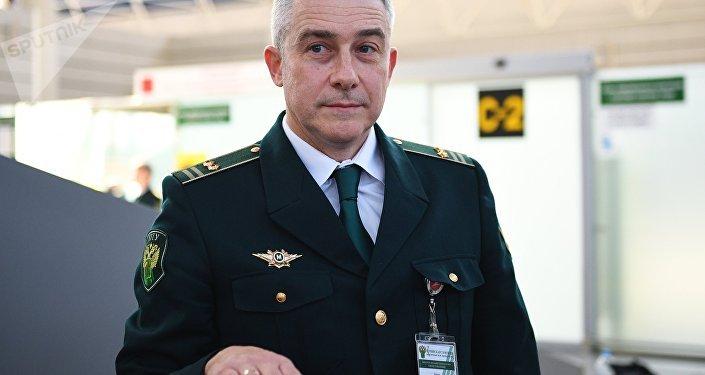 Alekséi Bíkov, jefe del puesto de aduanas del terminal aéreo en Sochi, Rusia
