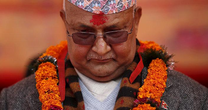 El primer minitro nepalí, Kadga Prasad Oli