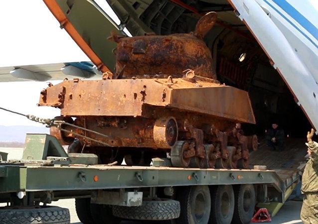 Un tanque estadounidense de los tiempos de II Guerra Mundial se preparará para el 9 de mayo