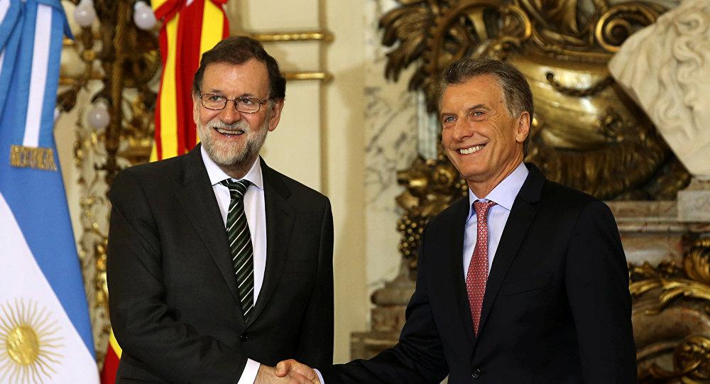 El presidente del Goberno de España, Mariano Rajoy y el presidente de Argentina, Mauricio Macri