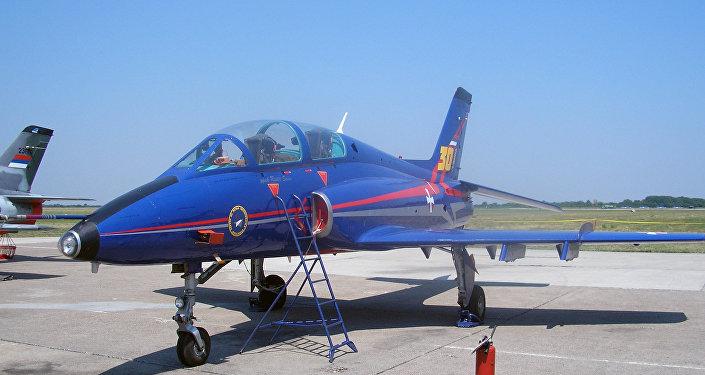 Un avión de entrenamiento ligero Soko G-4 Super Galeb (archivo)