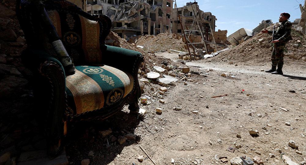 Ejército sirio afirma derribó mayoría de los misiles lanzados en su contra
