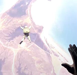 El desembarco aéreo en la región rusa de Primorie, a través de los ojos de un paracaidista