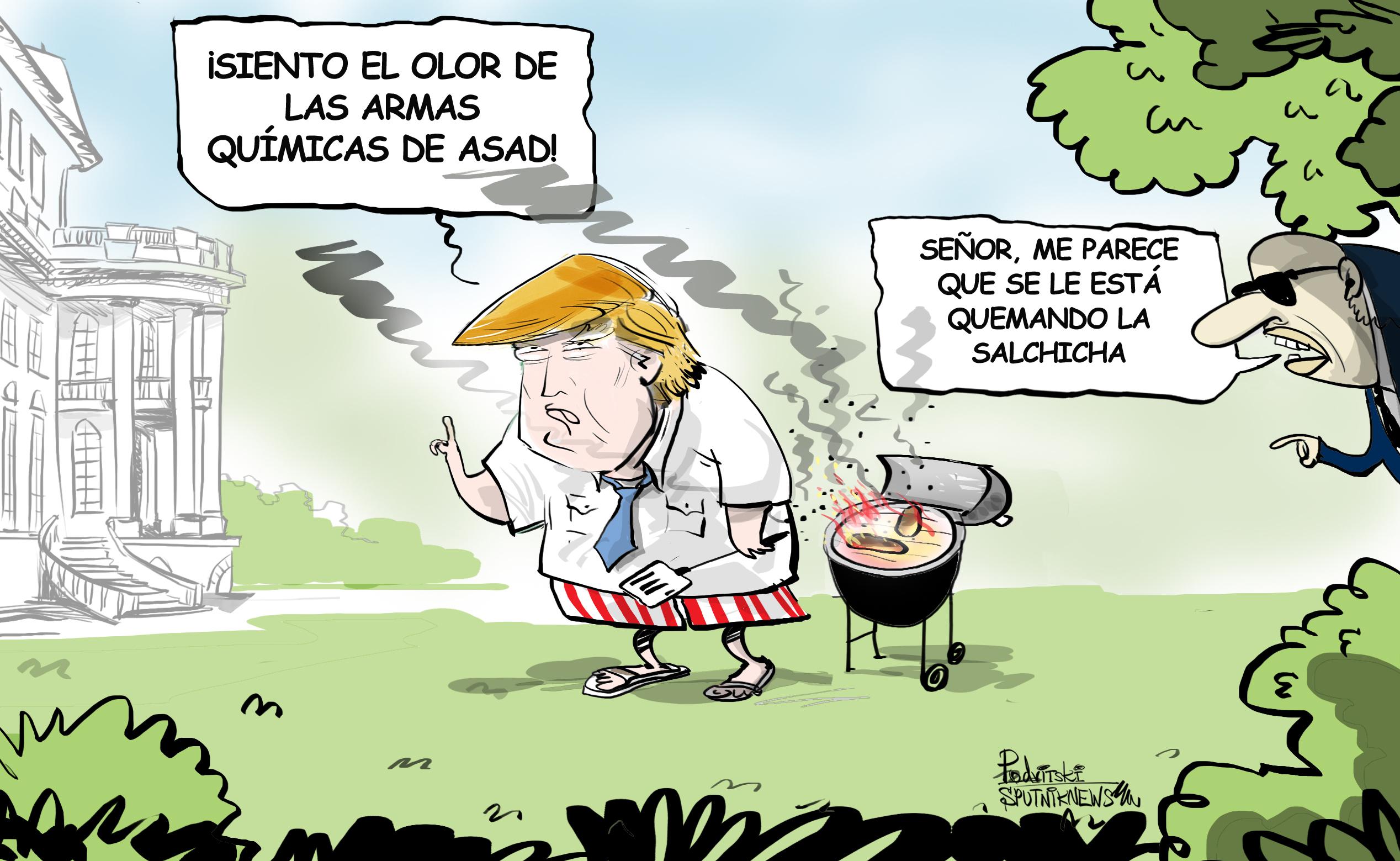 Trump, el 'sabueso' del supuesto ataque químico de Duma