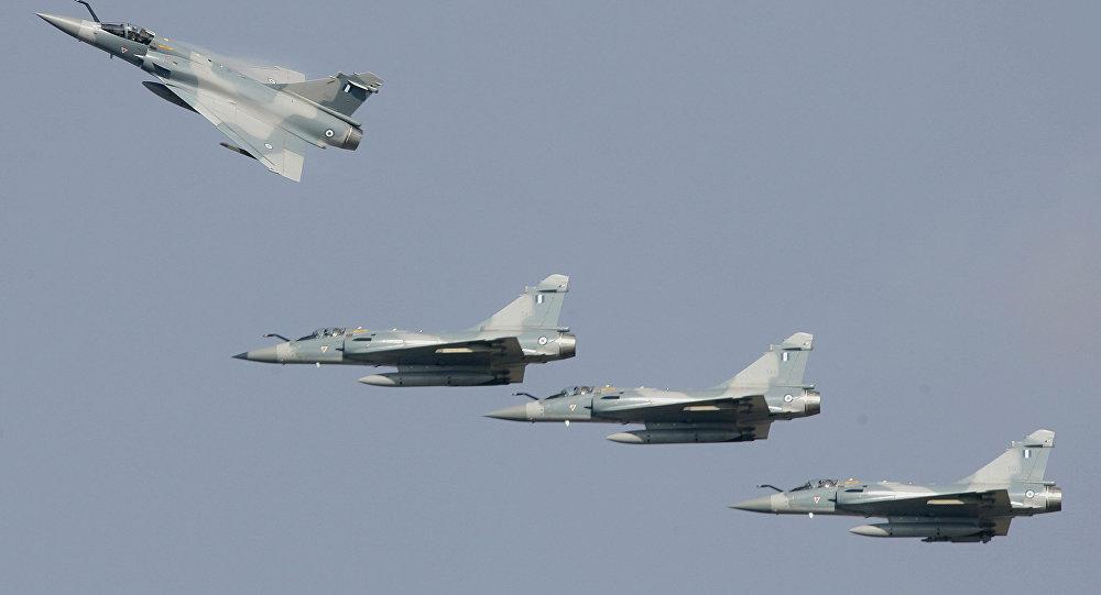 Cazas griegos Dassault Mirage 2000-5 (archivo)
