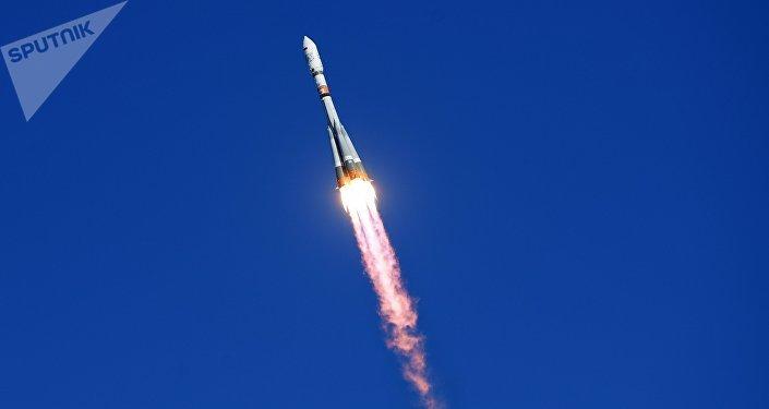 Un cohete portador ruso Soyuz-2.1a (archivo)