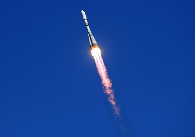 Cohete portador ruso Soyuz-2.1a del carguero Progress MS-09 (archivo)