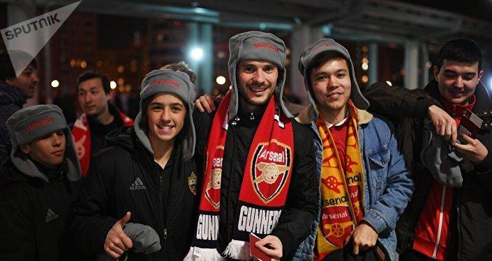 Hinchas del club británico Arsenal