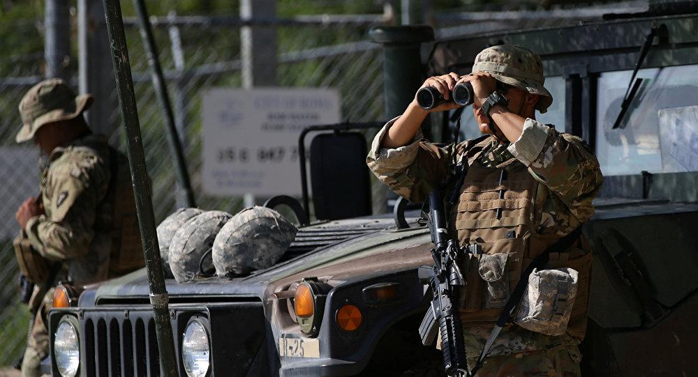 Guardia Nacional de EEUU en la frontera con México