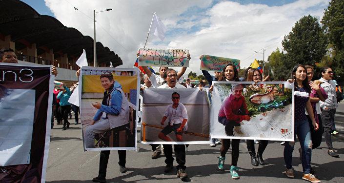Retratos de los periodistas secuestrados