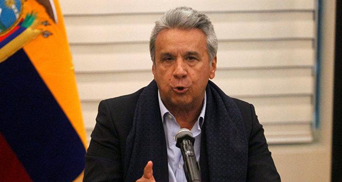 Conferencia de prensa de Lenín Moreno.