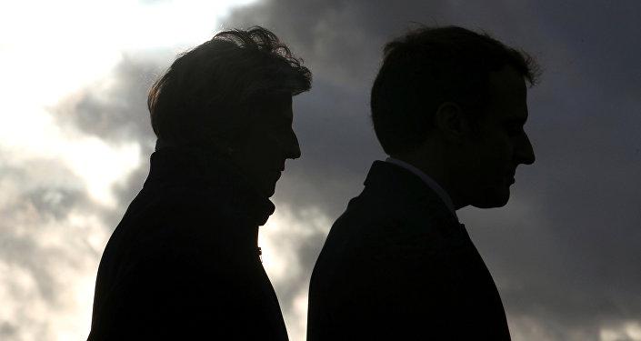 Theresa May, primera ministra del Reino Unido, y Emmanuel Macron, presidente de Francia