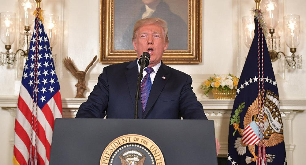 Donald Trump, presidente de EEUU, se dirige a la nación con relación a los ataques contra Siria