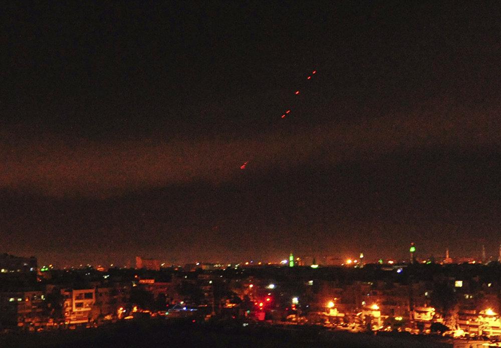 Las imágenes del ataque militar de EEUU y sus aliados contra Damasco