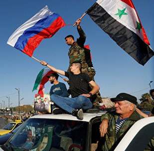 Protestas en Damasco