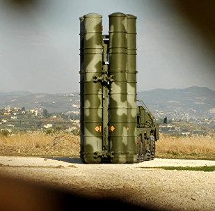 Un sistema ruso S-400 Triumf desplegado en Siria