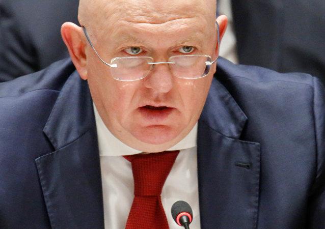 Vasili Nebenzia, el embajador ruso ante la ONU