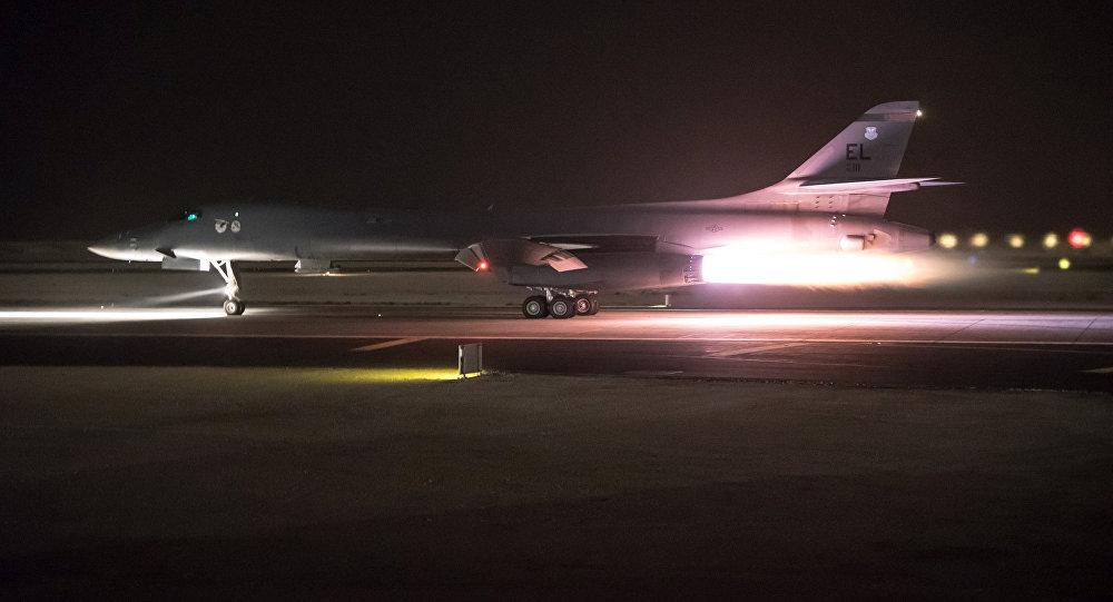 Un B-1B Lancer participa en el ataque de EEUU contra Siria