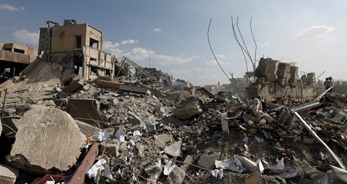 Consecuencias del bombardeo en Damasco, Siria
