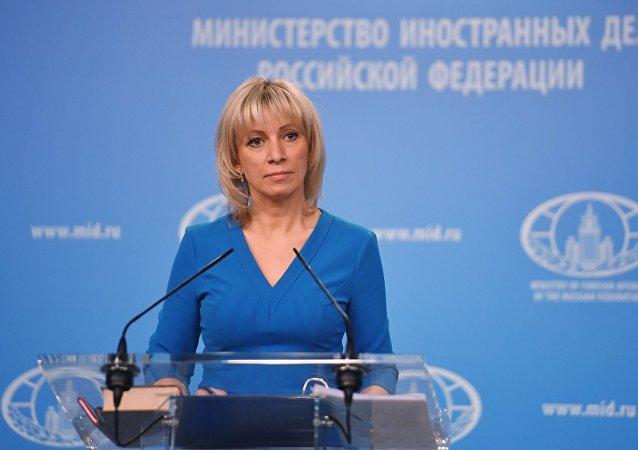 María Zajárova, la portavoz del Ministerio de Exteriores de Rusia