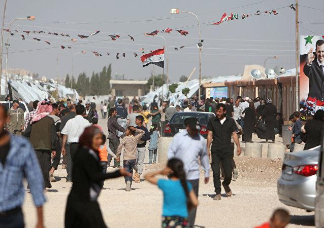 Los habitantes de Herjelleh, una localidad cerca de Damasco, Siria (archivo)