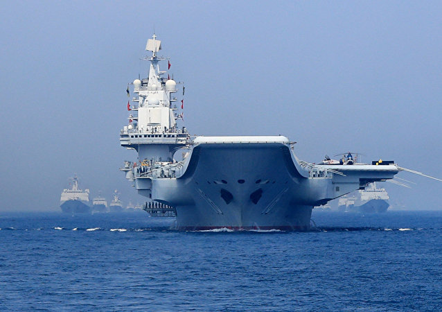 Un grupo naval chino en el mar del Sur de China