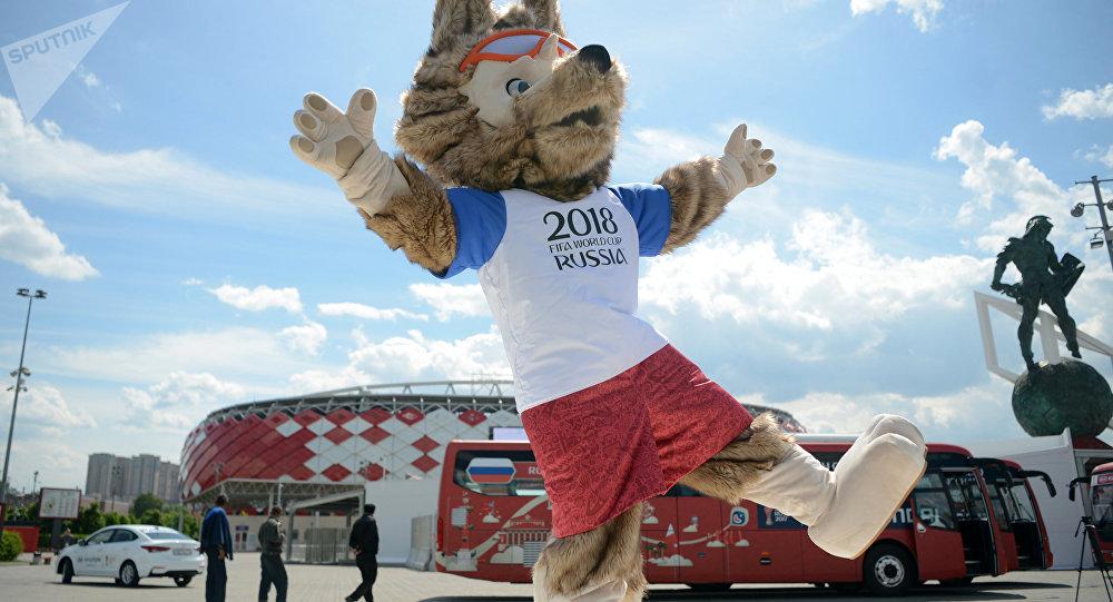 El lobo Zabivaka, la mascota oficial del Mundial 2018