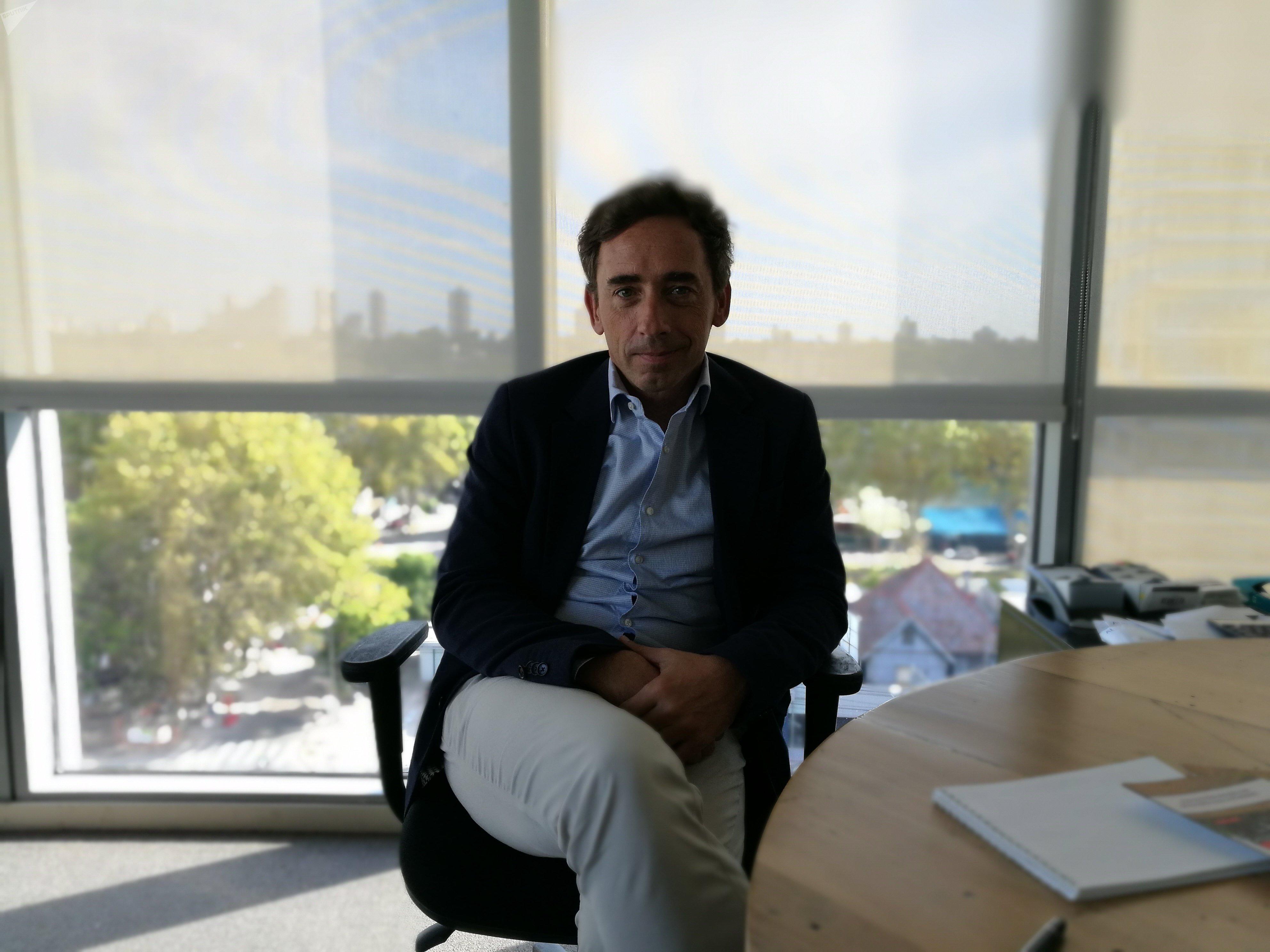 Franco Comparato, CEO de Transmashholding Argentina, la empresa rusa que planea expandirse en la industria del ferrocarril en ese país.