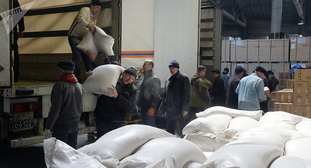 Ayuda humanitaria al este de Ucrania (archivo)