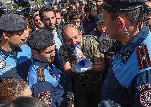 Nikol Pashinián, líder del partido armenio YELQ (archivo)