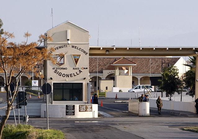La base aérea de Sigonella, en Sicilia