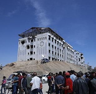 El lugar cerca del supuesto ataque químico en Duma, Siria
