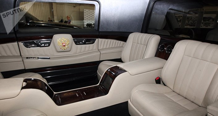 El interior del automóvil del proyecto Kortezh