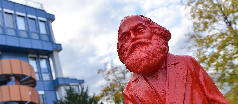 Una estatua de Marx en la ciudad de Trier