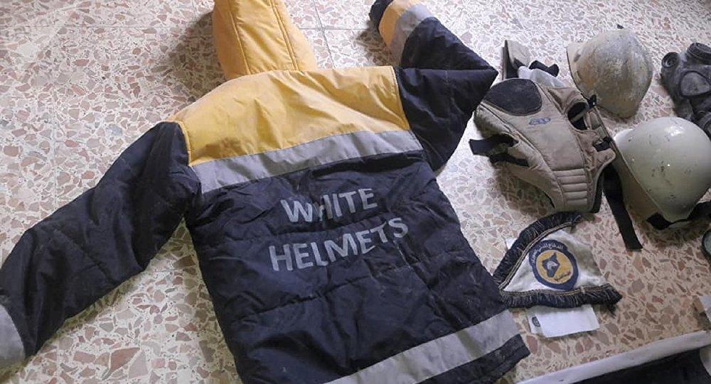 El uniforme de los Cascos Blancos (archivo)