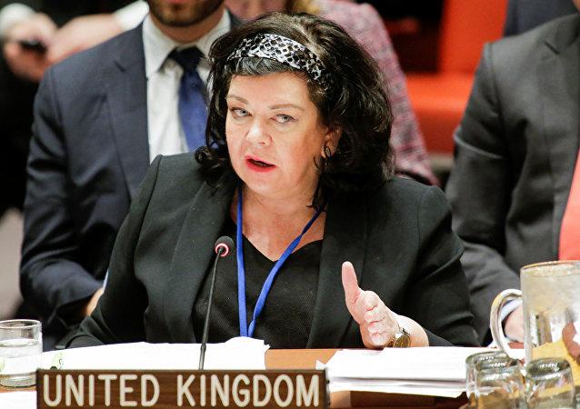 Karen Pierce, embajadora del Reino Unido ante la ONU