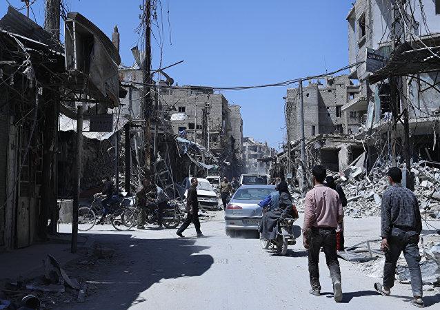 Situación en Duma, Siria (archivo)
