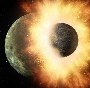 Colisión de planetas (imagen referencial)