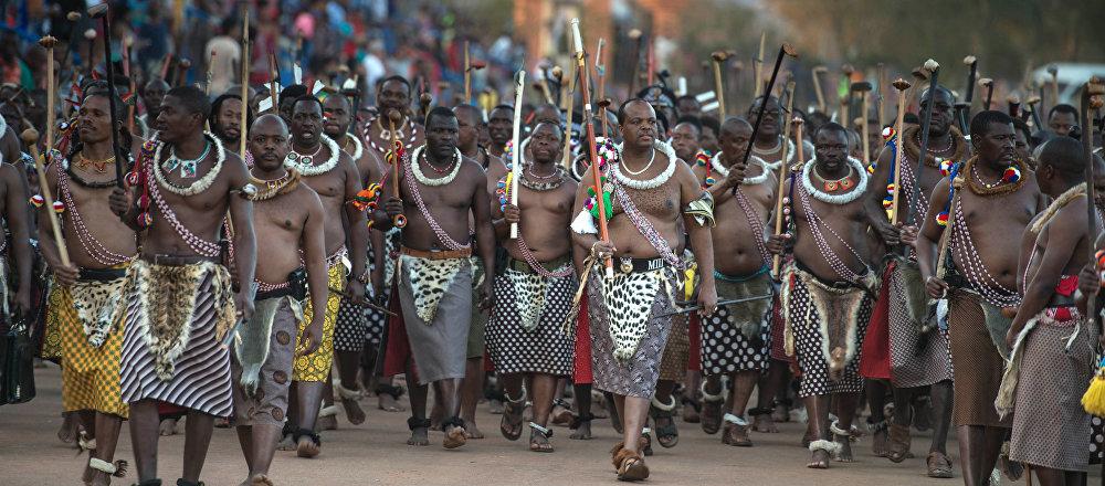 El rey de Suazilandia, Mswati III