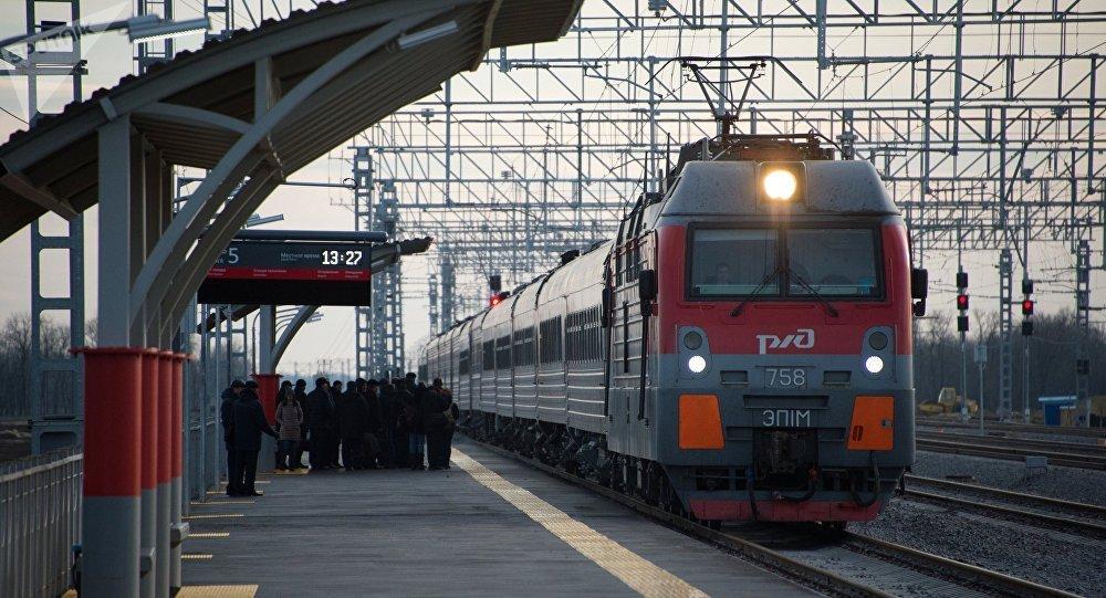 Un tren de RZhD (archivo)
