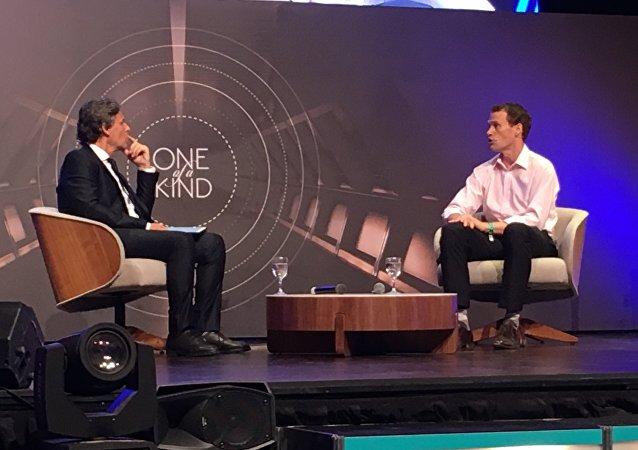 George Gordon, director regional de Uber, durante el American Bussines Forum