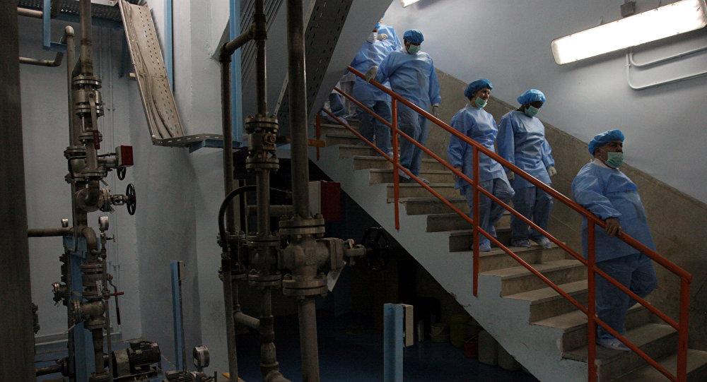 Dentro de una planta nuclear iraní, foto de archivo