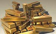 Lingotes de oro, imagen referencial