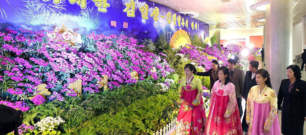 El 20° Festival Kimilsungia en Pyongyang