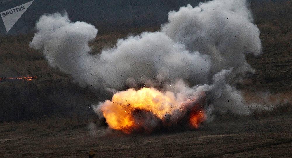 Disparo de un lanzallamas ruso Shmel