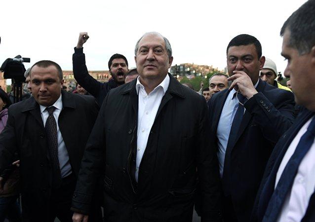 El presidente de Armenia, Armén Sarkisián