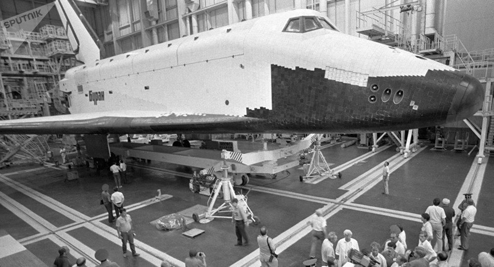 El transbordador espacial Buran